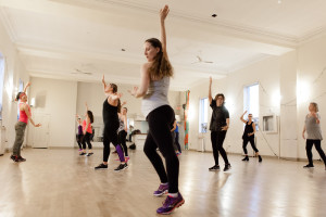 zumba class at Dovercourt House near Bloor and Ossington